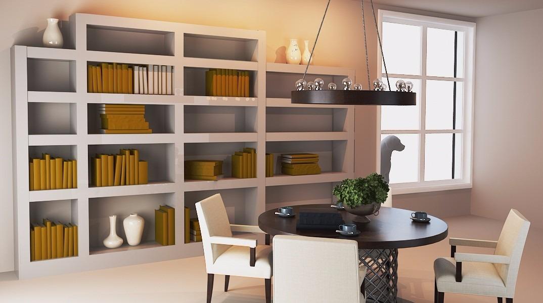 Muebles En Yeso Estanterias Cenefas Division De Ambientes - Estanterias-separadoras-de-ambientes