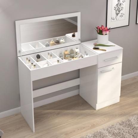 Muebles escritorio tocador con luces espejo mobelstore - Tocador con espejo y luces ...