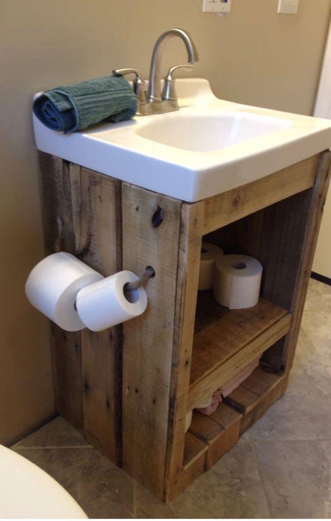 Muebles para bacha de madera palets en for Fabricacion de muebles de palets de madera