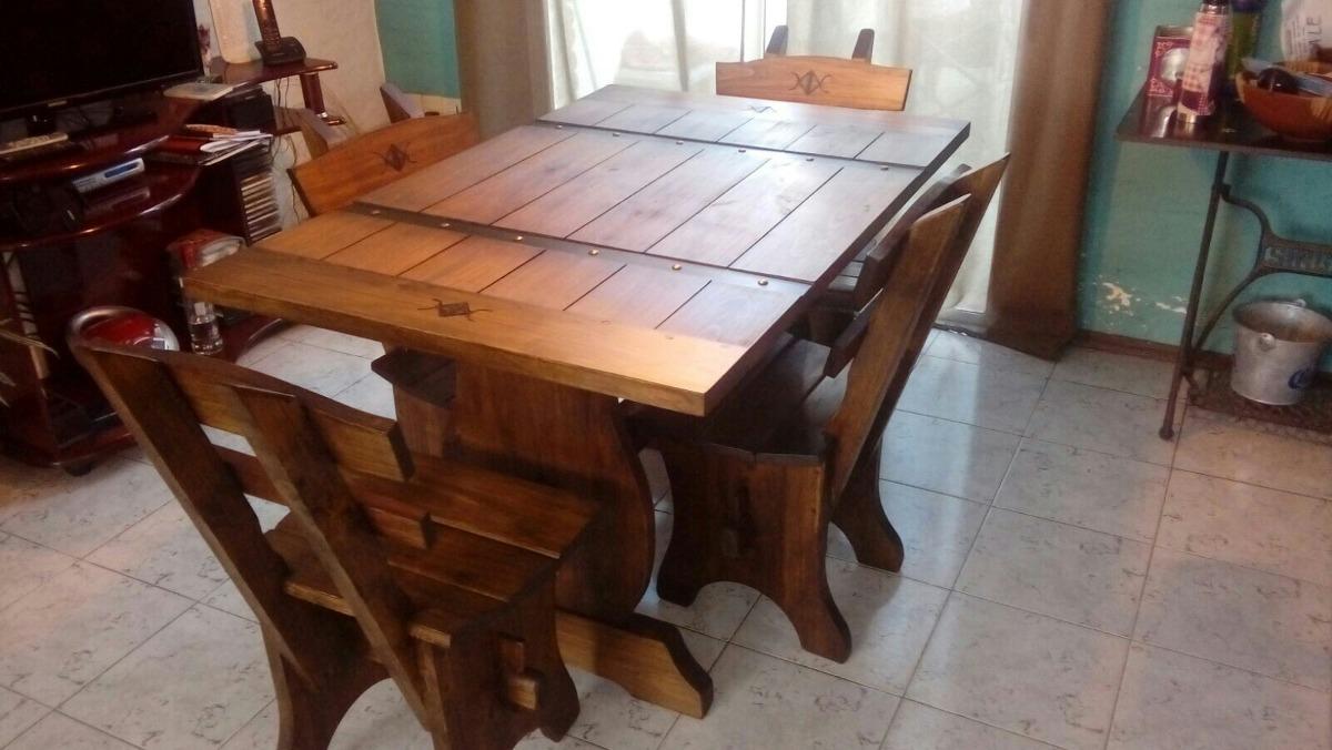 Muebles Rusticos. Comedor 4 Sillas Mesa Espanola - $ 21.500,00 en ...