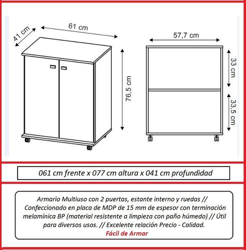 multiuso armario cocina microondas alacena bl3300