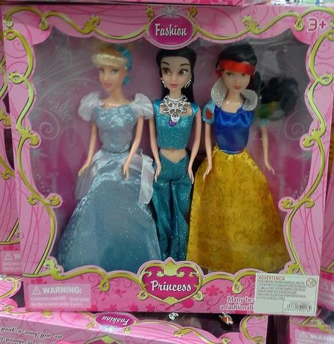 muñecas princesas x 3