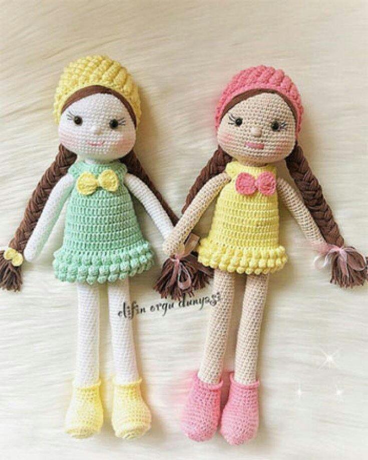 Muñecas Tejidas En Crochet