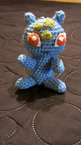 muñeco pokemon go amigurumi crochet llaveros $220