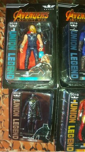 muñecos avengers  hulk ,hombre araña ,thor etc