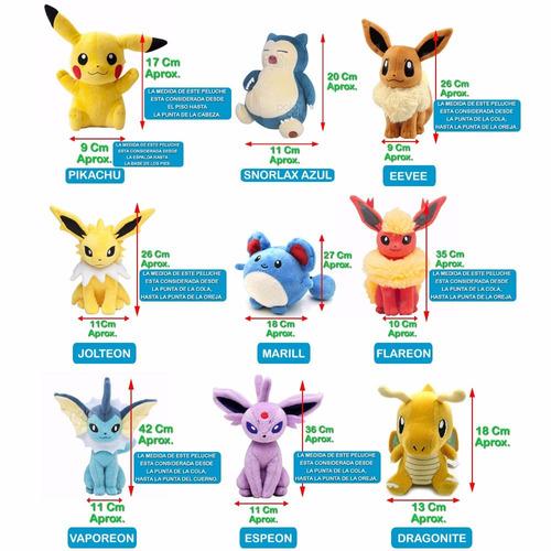 muñecos medianos peluche pokemon go 1 calidad varios modelos