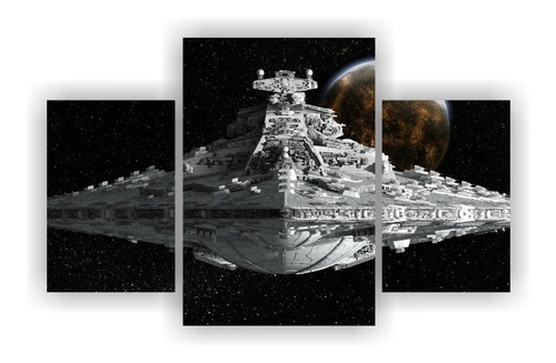 murales en madera star wars  tripticos, envío gratis