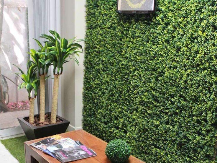 Muros cercos de trebol artificial enredadera jardin - Muros de jardin ...