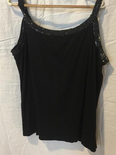 musculosa algodón dama negro 3xxx mujer