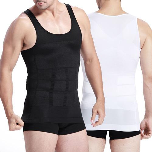 musculosas fajas reductoras hombre x2 blanca y negra tcweb
