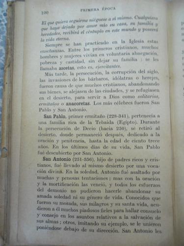 muy antiguo libro historia de la iglesia catolica