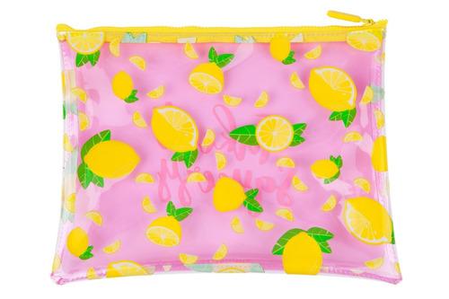 neceser para playa sunnylife diseño limones