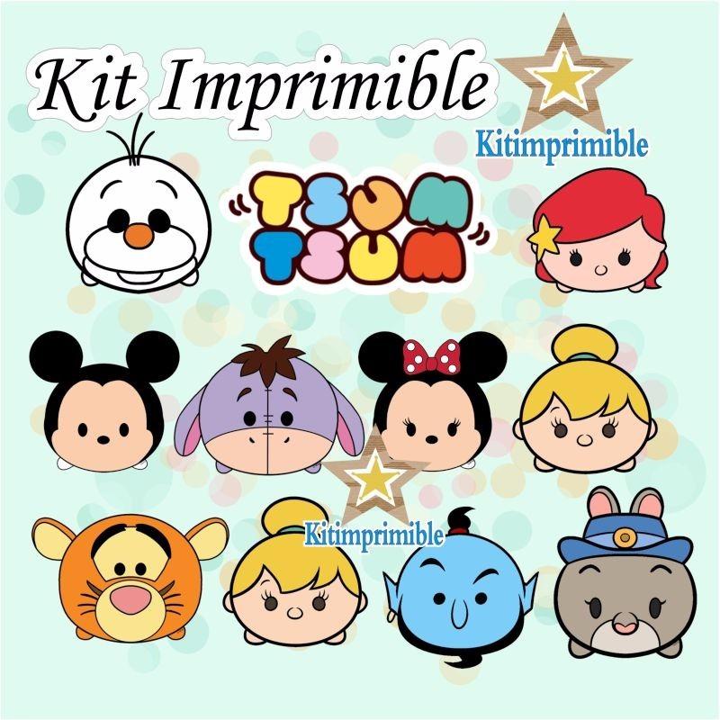 New° Kit Imprimible Tsum Tsum Disney + Candy Bar Etiquetas - $ 390 ...