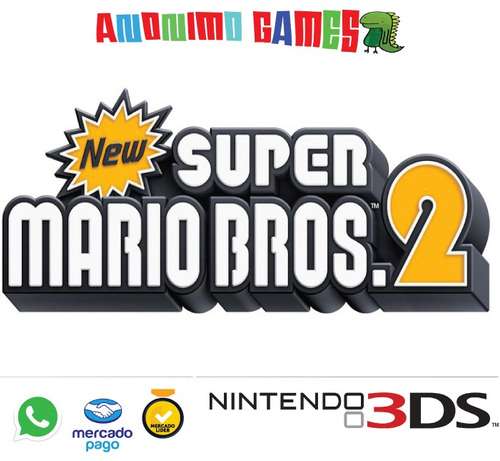 new super mario bros 2 código original nintendo 3ds