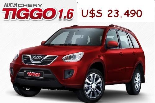 new tiggo  1.6l  dvvt - extra full -nuevo precio u$s 23.490