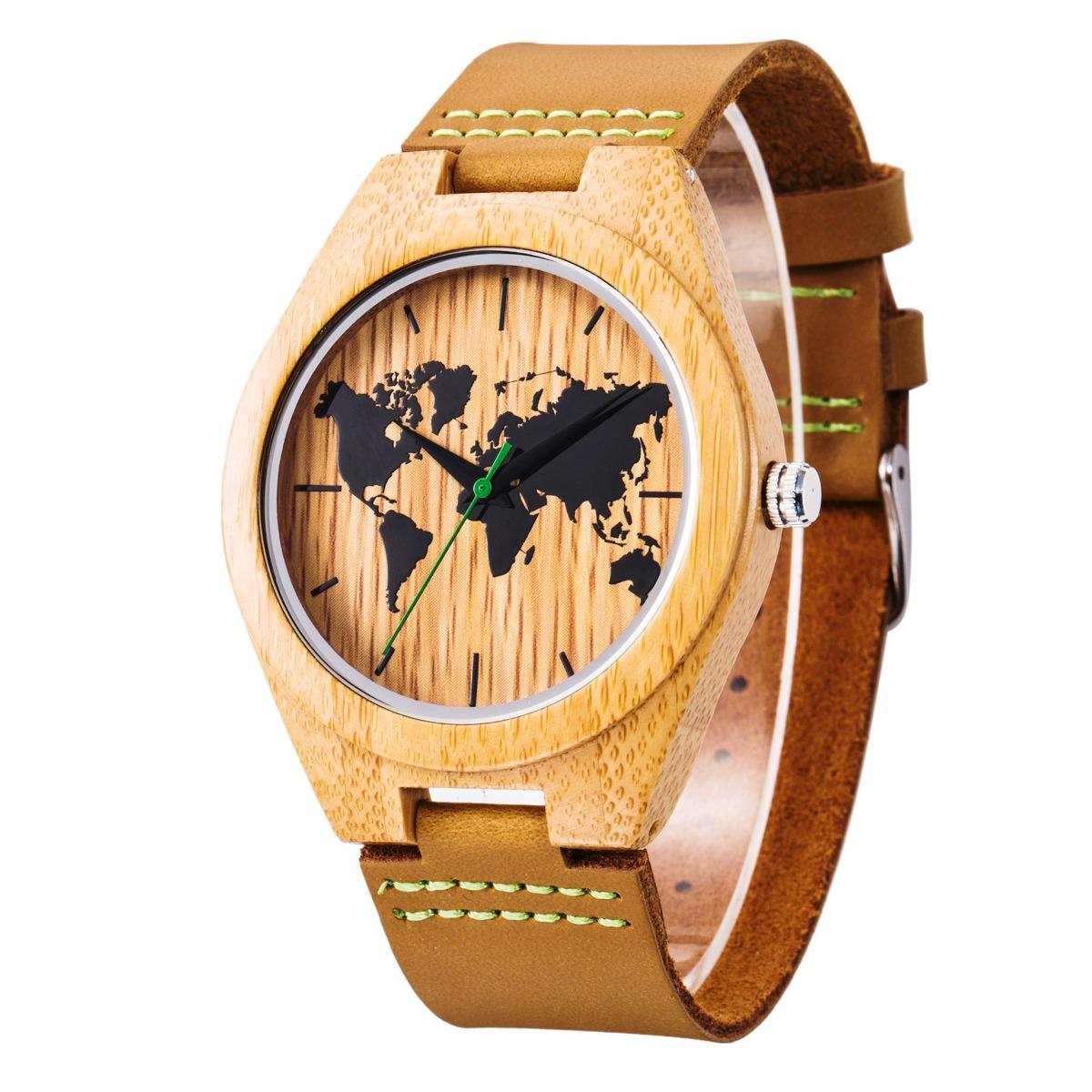 67a2bde6cb54 Newbetter Reloj De Madera Para Caballero