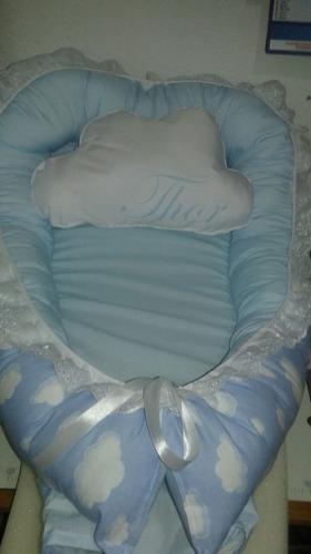 nido de contención bebé con almohadon personalizado