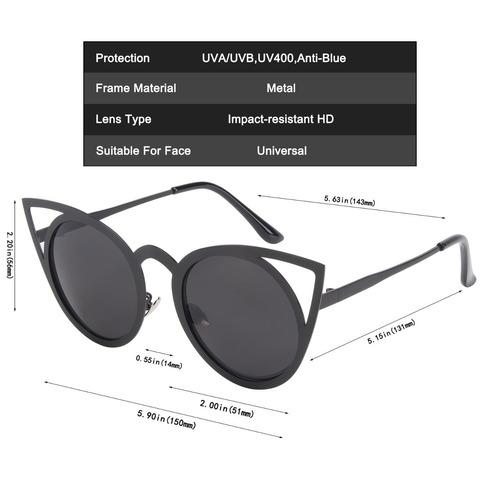15f0545f91 Nieepa Womens Cat Eye Sunglasses Metal Cut Out Espejo Red - U S 44 ...