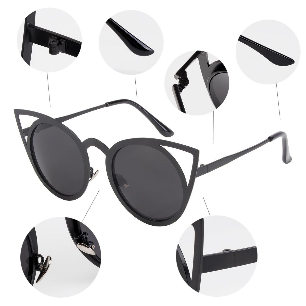 920d86de86 nieepa womens cat eye sunglasses metal cut out espejo red. Cargando zoom.