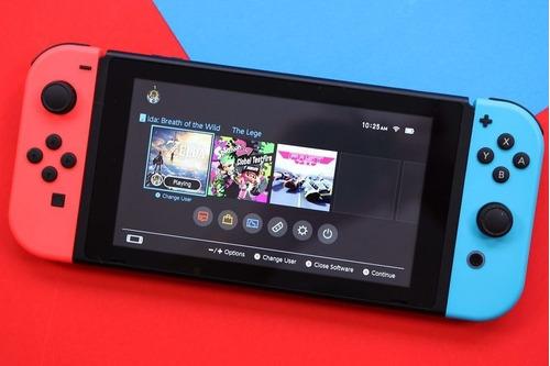 nintendo switch + joy-con rojo-azul último modelo nueva