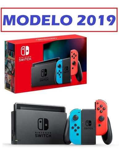 nintendo switch nuevo modelo 2019 - 1 año de garantia