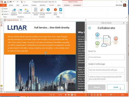 nitro pro 10 - editor de pdf envio inmediato