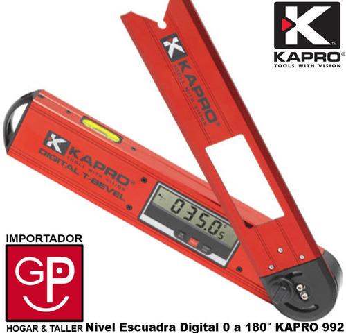nivel escuadra digital prof. 0 a 180º grados kapro 992