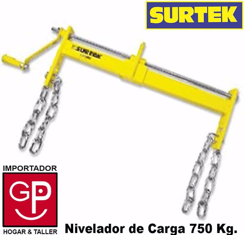 nivelador de carga industrial 750 kg surtek