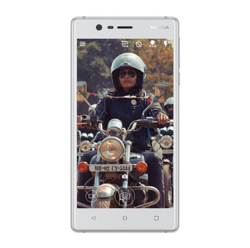 nokia 3 android lte pant. 5 hd 16+2ram 8+8mpx plata