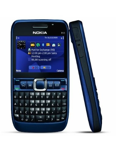 nokia e63-2 abrió el teléfono con cámara de 2 mp, 3g, wi-fi,