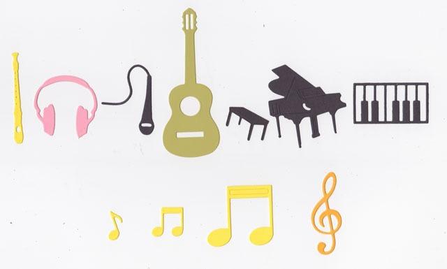 Notas Musicales Guitarra Piano Flauta Goma Eva Cartulina 800 En