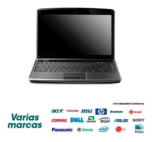notebook hp-dell-acer / core 2 duo / 2gb / 320gb / 14