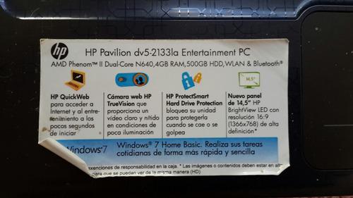 notebook hp dv5-2133la