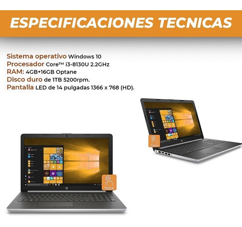 notebook hp i3 8va gen 1tb disco 20gb ram (4 + 16 optane)