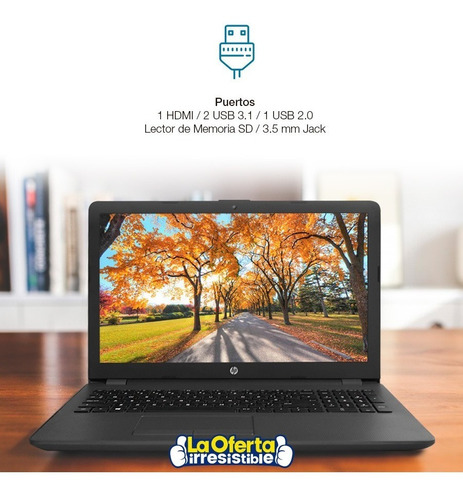 notebook hp nueva 15.6' amd a6 1tb 4gb dvd bt radeon r4  loi