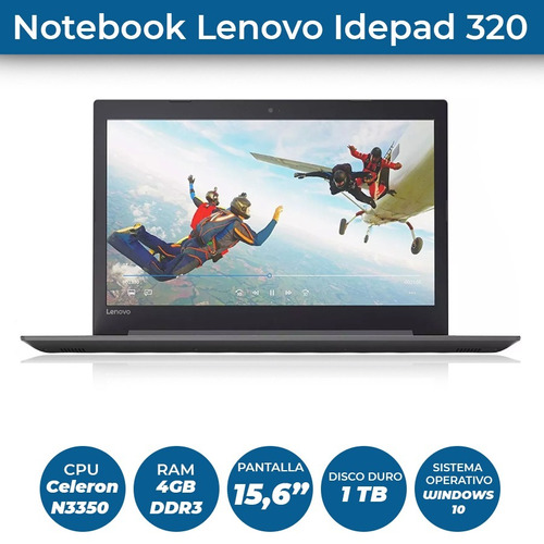notebook lenovo ideapad 320 nueva 4 gb 1tb + regalo