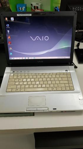 notebook sony vaio usado core 2 duo 2gb hd 120gb ver descric