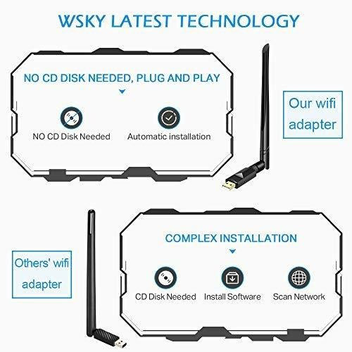 [nuevo 2019] Wsky Usb Wifi Adapter, Pulg And Play (sin Cd