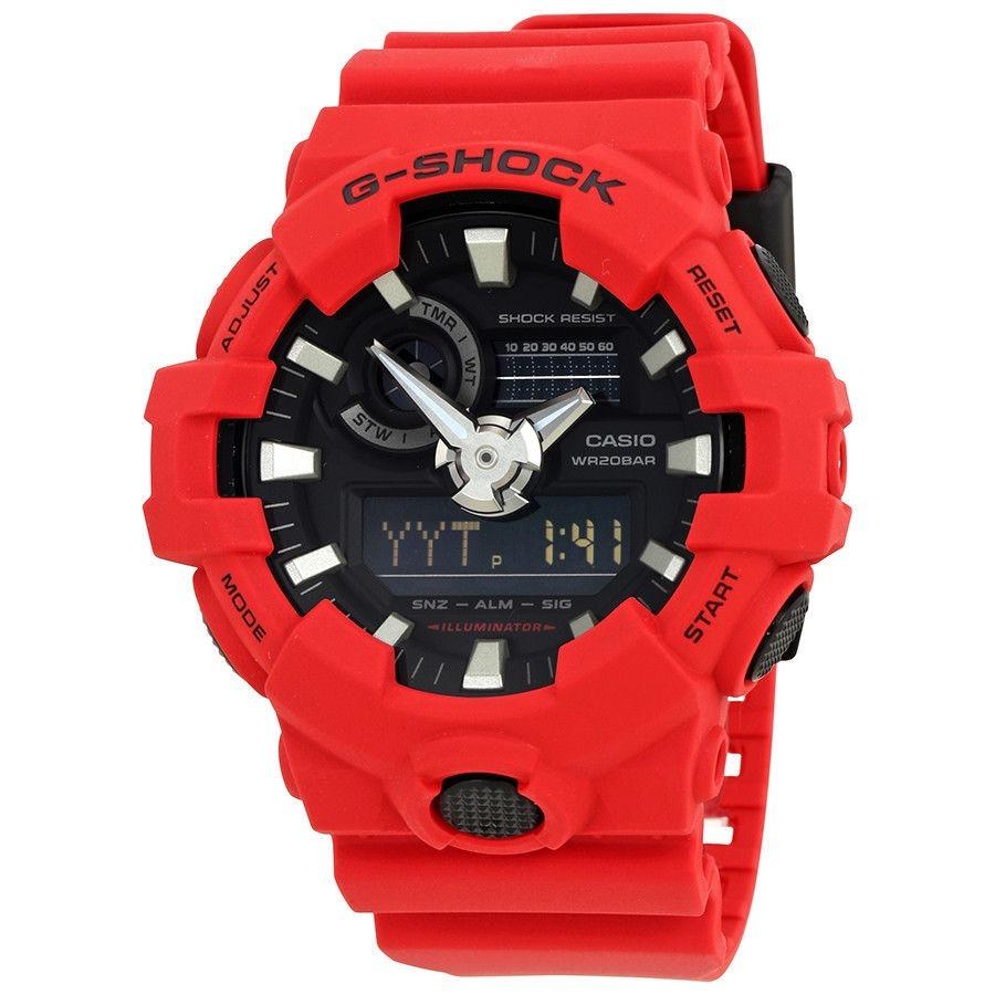 c61768802716 Nuevo ! Reloj Casio G Shock Militar Rojo Mod Ga-700-4acr Usa - U S ...