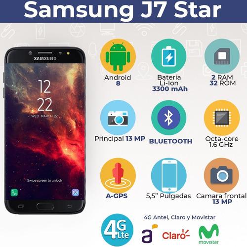 nuevo samsung j7 star metro 32 gb 2 ram 13 mp + auriculares