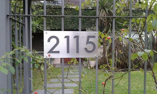 numero de puerta acero inoxidable 20x30cm