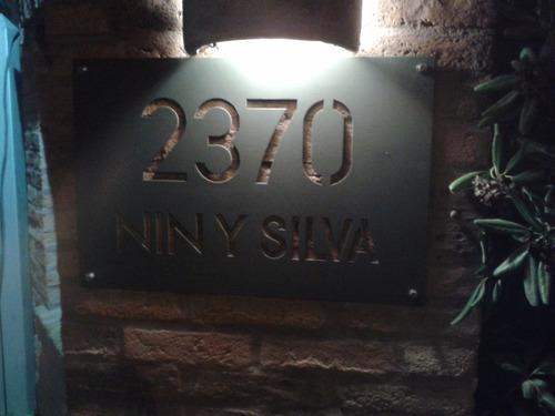 numero de puerta hierro pintado 20x30cm