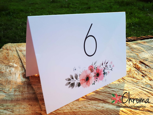 numeros de mesa, bodas, 15 años