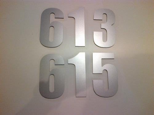 números de puerta en aluminio para casas y apartamentos