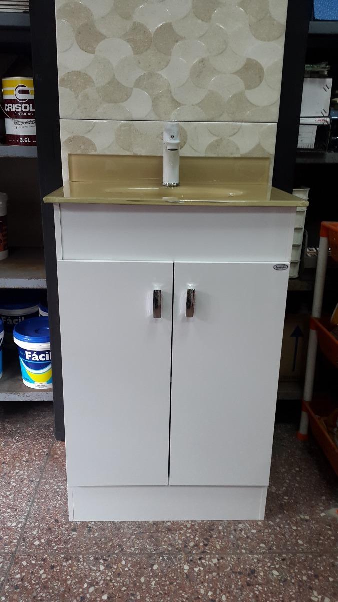 Oferta mueble con bacha de ba o color beige 50x35 cm - Ofertas muebles de bano ...