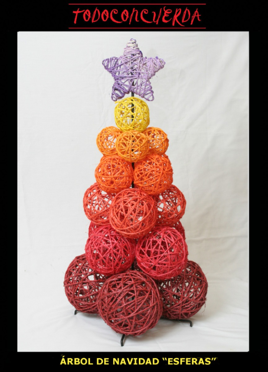 Oferta Navidadena Hermoso Arbol Artesanal De Navidad 2890 - Arbol-de-navidad-artesanal