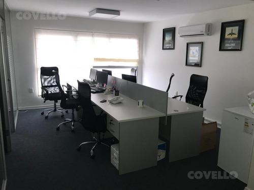 oficina totalmente equipada, próxima a wtc , monoambiente de 58 m2 con divisiones, kitchenette y baño.vigilancia, sala de reuniones de uso común.