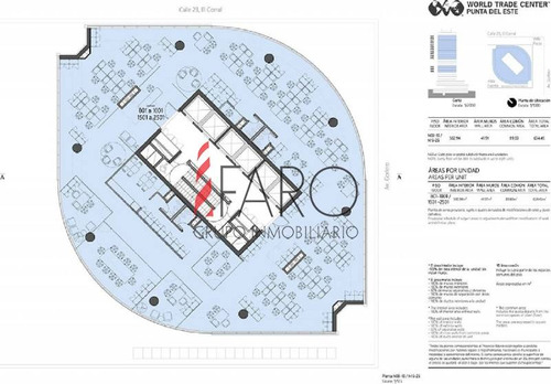 oficinas de 634 m2 en world trade center punta del este - ref: 36107