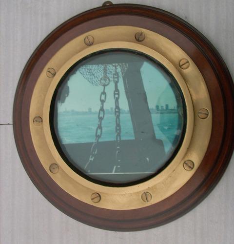 ojo de buey de bronce de barco