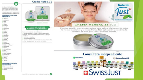 oleo 31 y crema herbal 31 - productos just- naturals-just